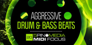 Cover art for MIDI Focus – Aggressive Drum and Bass Beats (5Pin Media)