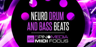 Cover art for MIDI Focus – Neuro Drum and Bass Beats (5Pin Media)