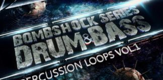 Cover art for BombShock DnB Percussion Loops Vol. 1 (Pakotec Samples)